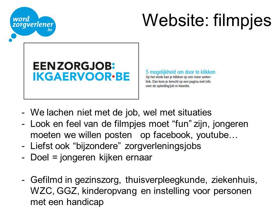 Website: filmpjes - We lachen niet met de job, wel met situaties