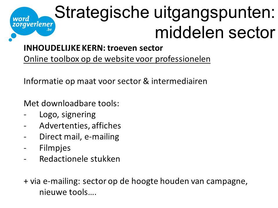 Strategische uitgangspunten: middelen sector
