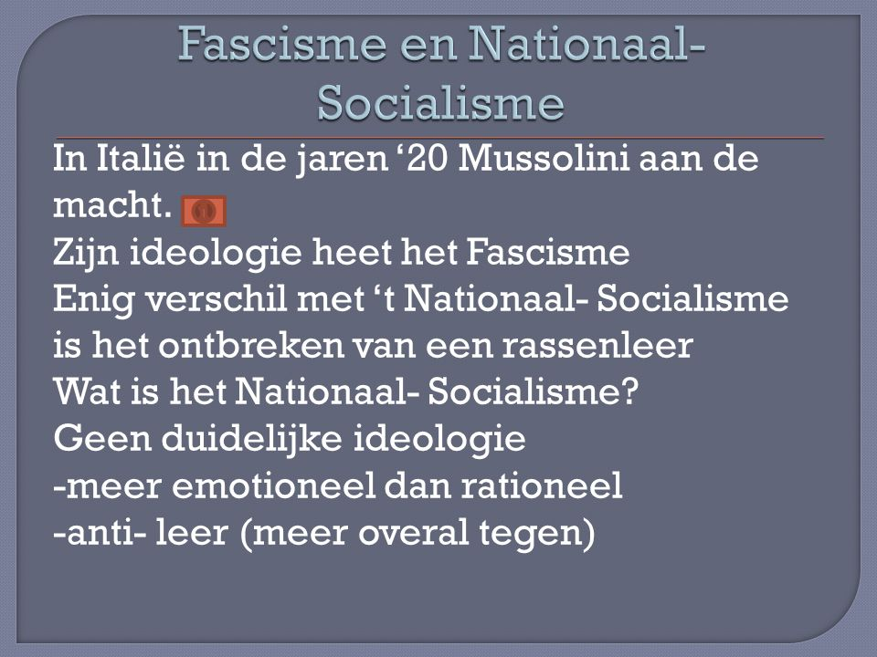 Fascisme en Nationaal-Socialisme