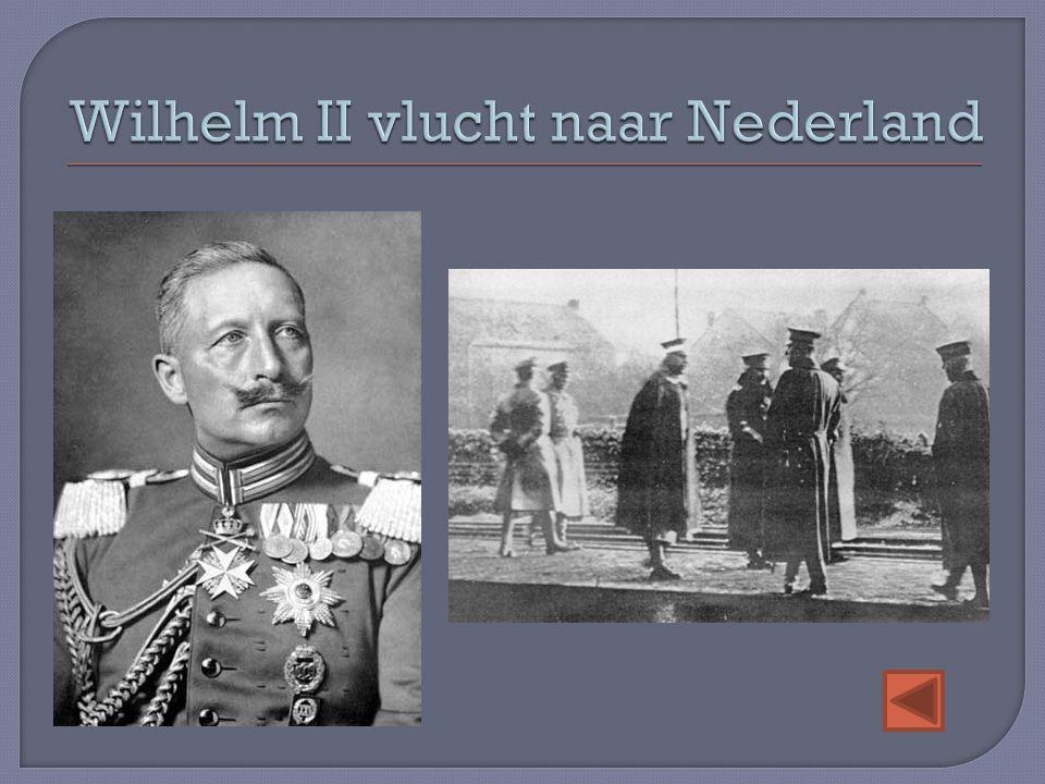 Wilhelm II vlucht naar Nederland