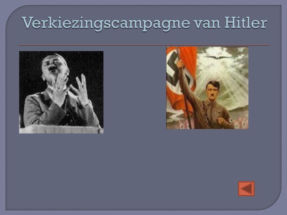 Verkiezingscampagne van Hitler