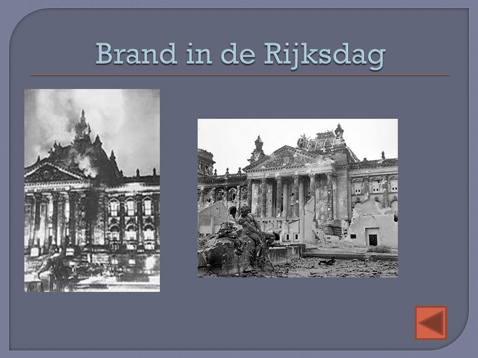 Brand in de Rijksdag