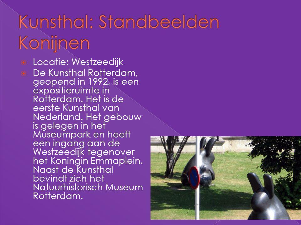 Kunsthal: Standbeelden Konijnen