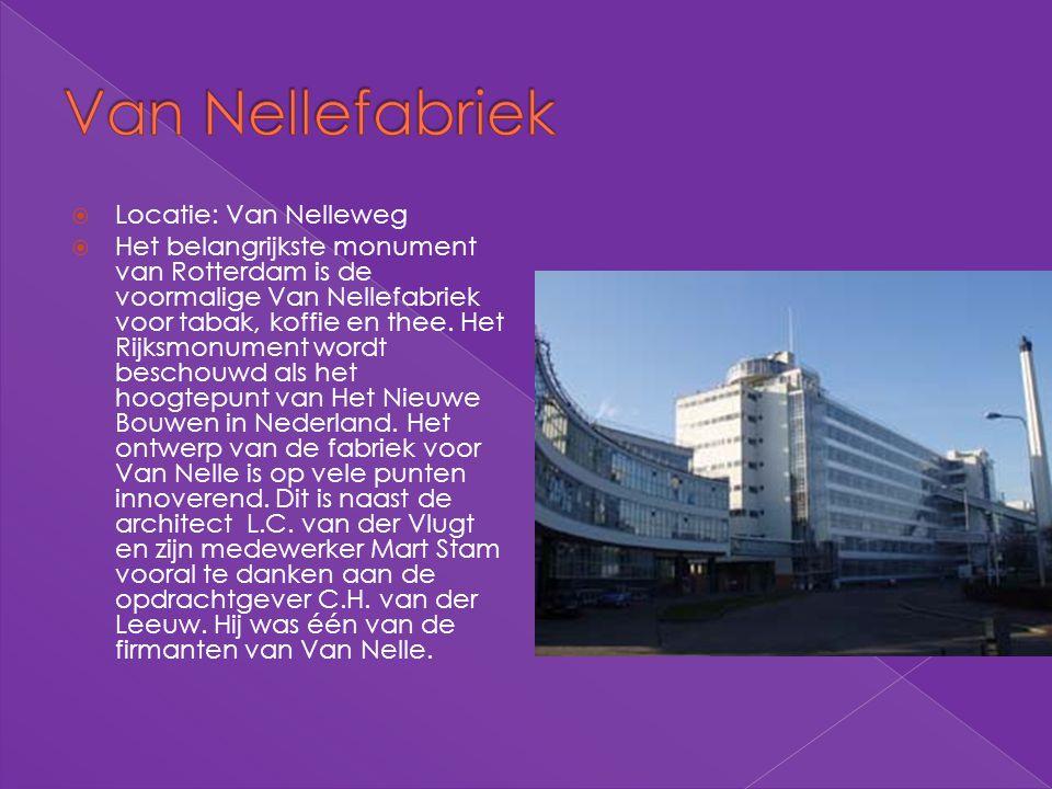 Van Nellefabriek Locatie: Van Nelleweg