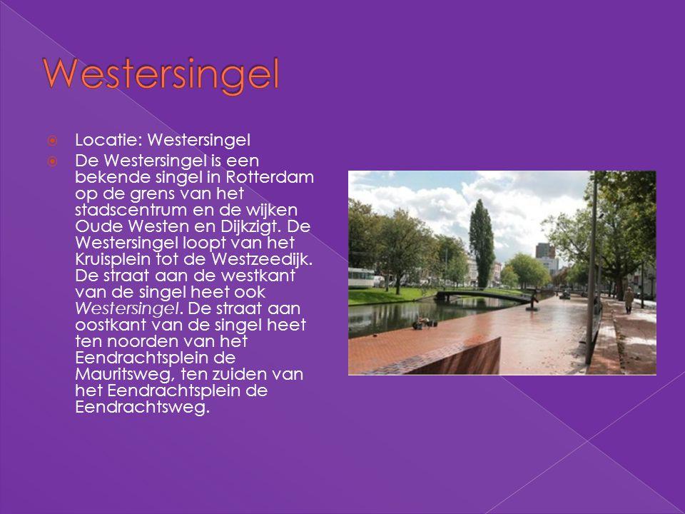 Westersingel Locatie: Westersingel