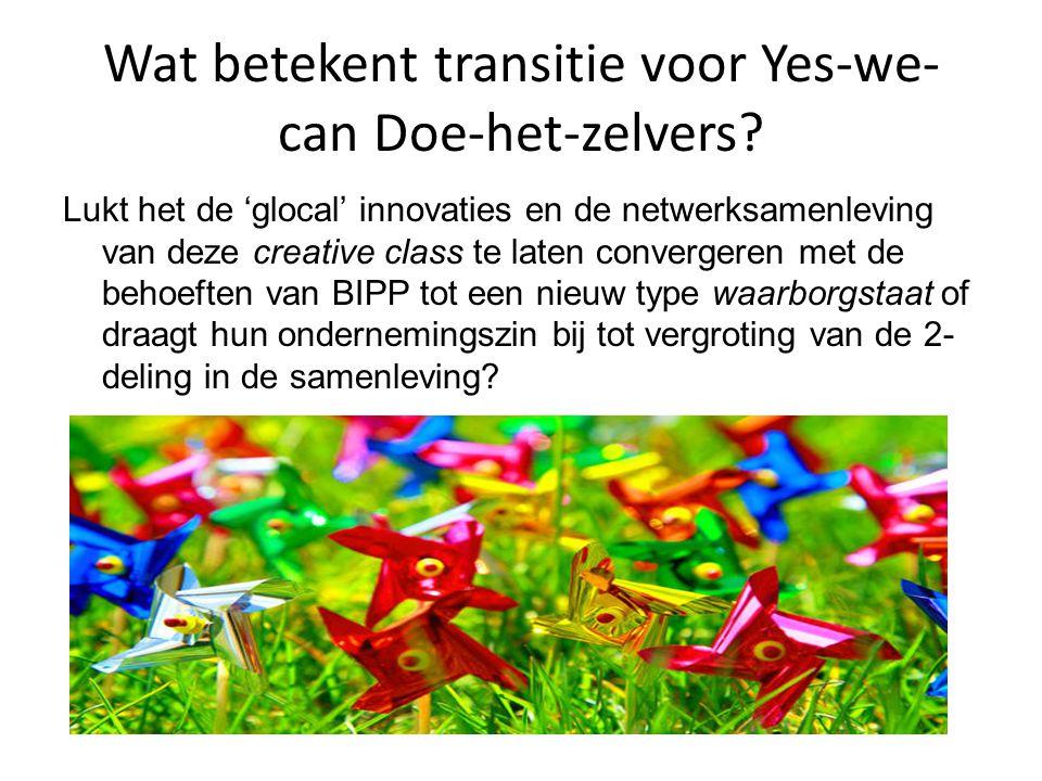 Wat betekent transitie voor Yes-we-can Doe-het-zelvers