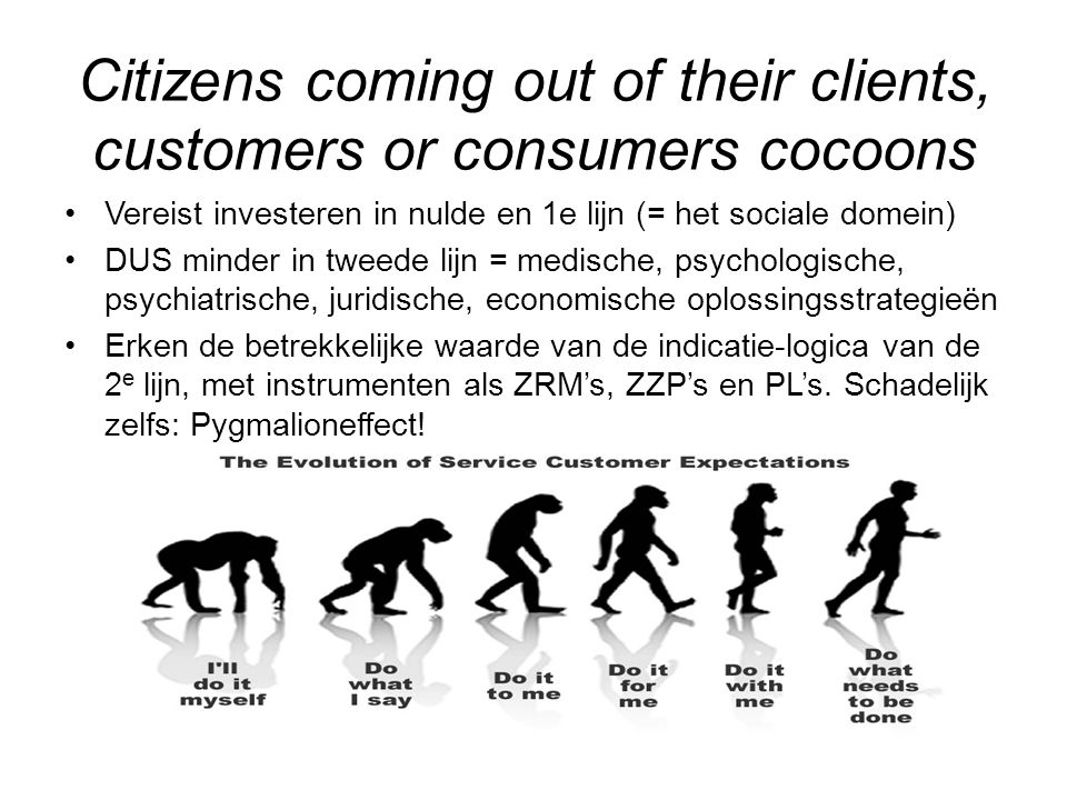 Citizens coming out of their clients, customers or consumers cocoons