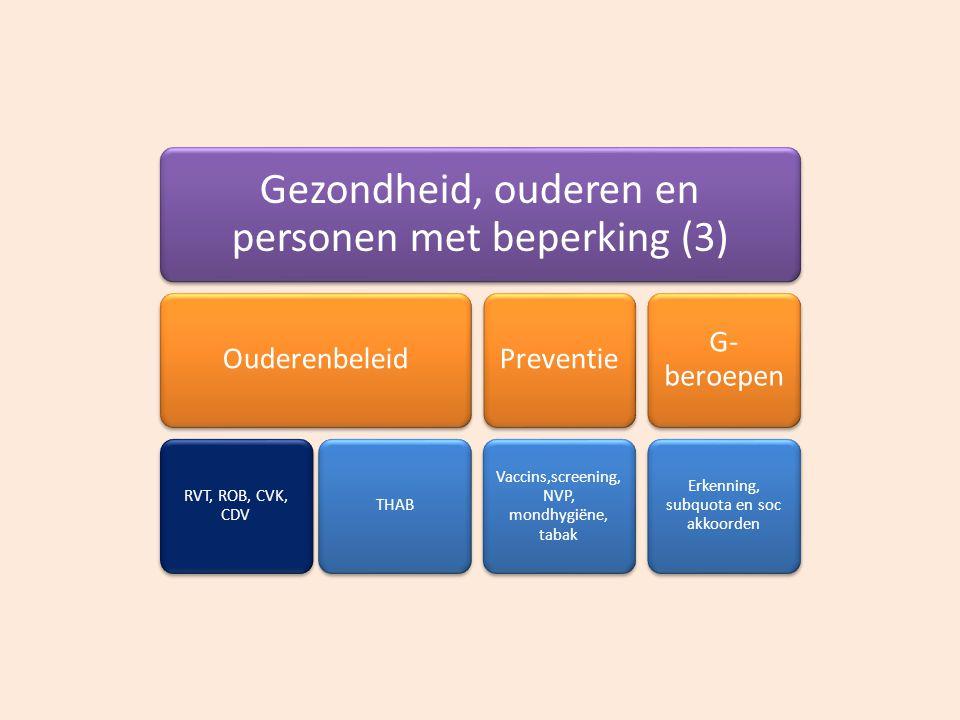 Gezondheid, ouderen en personen met beperking (3)