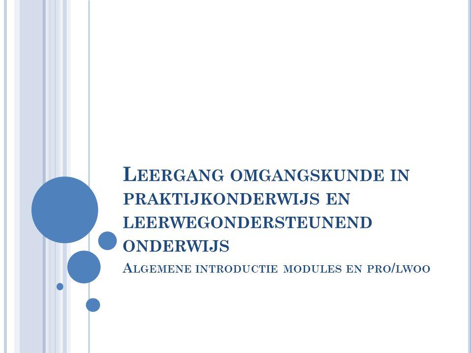 Algemene introductie modules en pro/lwoo