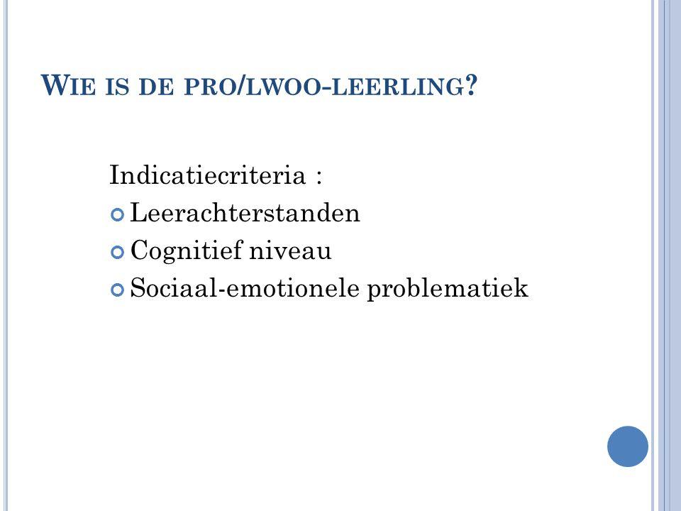 Wie is de pro/lwoo-leerling