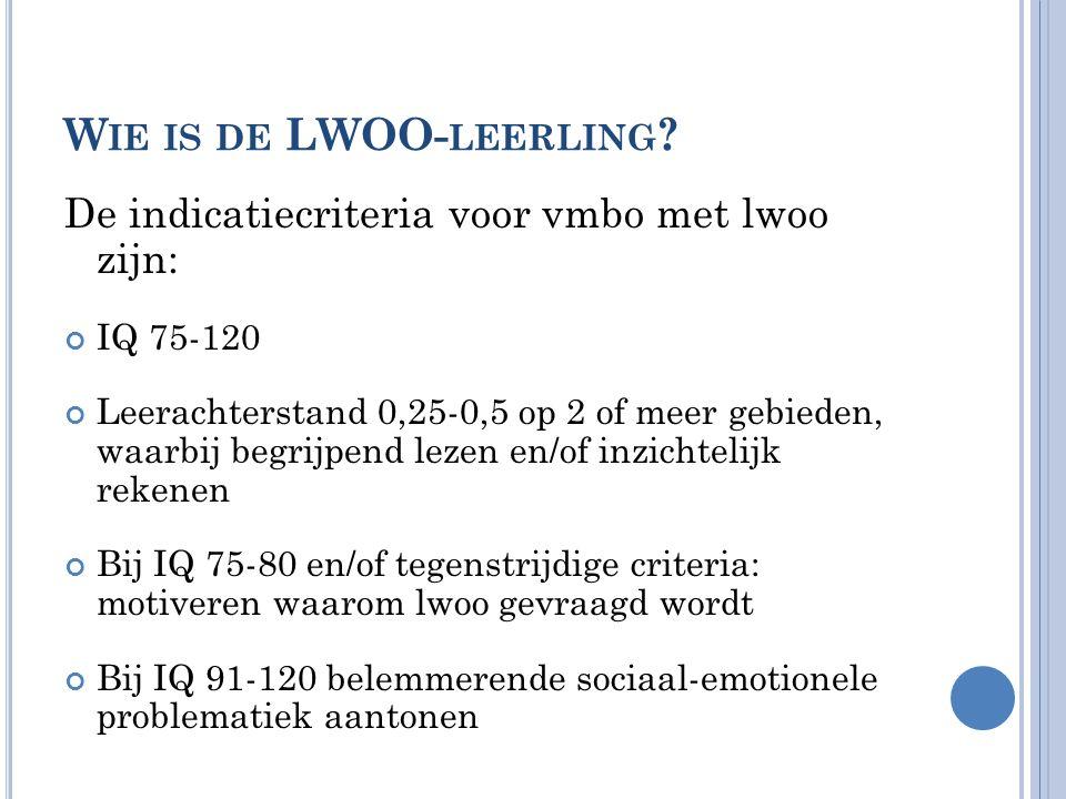 Wie is de LWOO-leerling