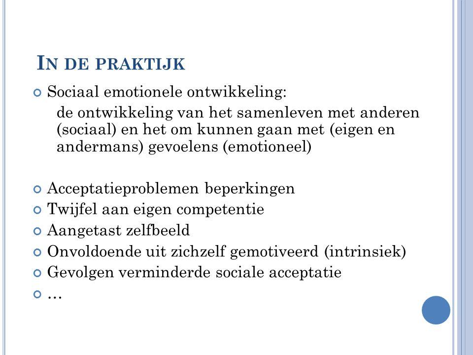 In de praktijk Sociaal emotionele ontwikkeling: