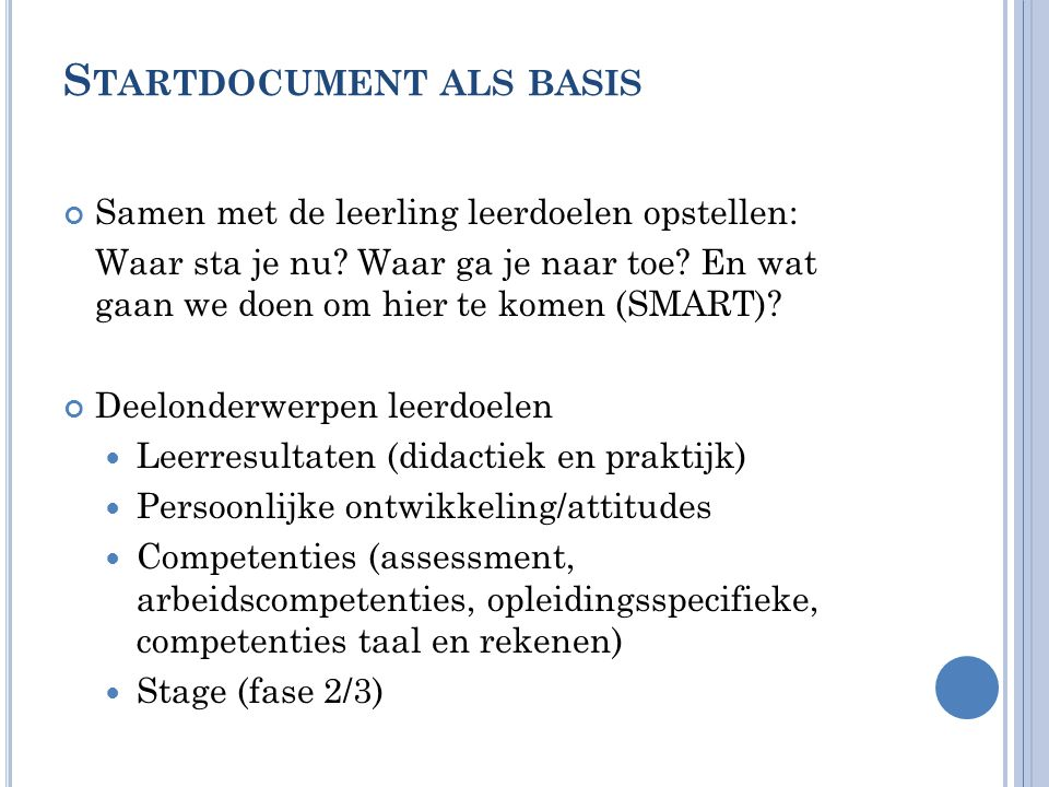 Startdocument als basis