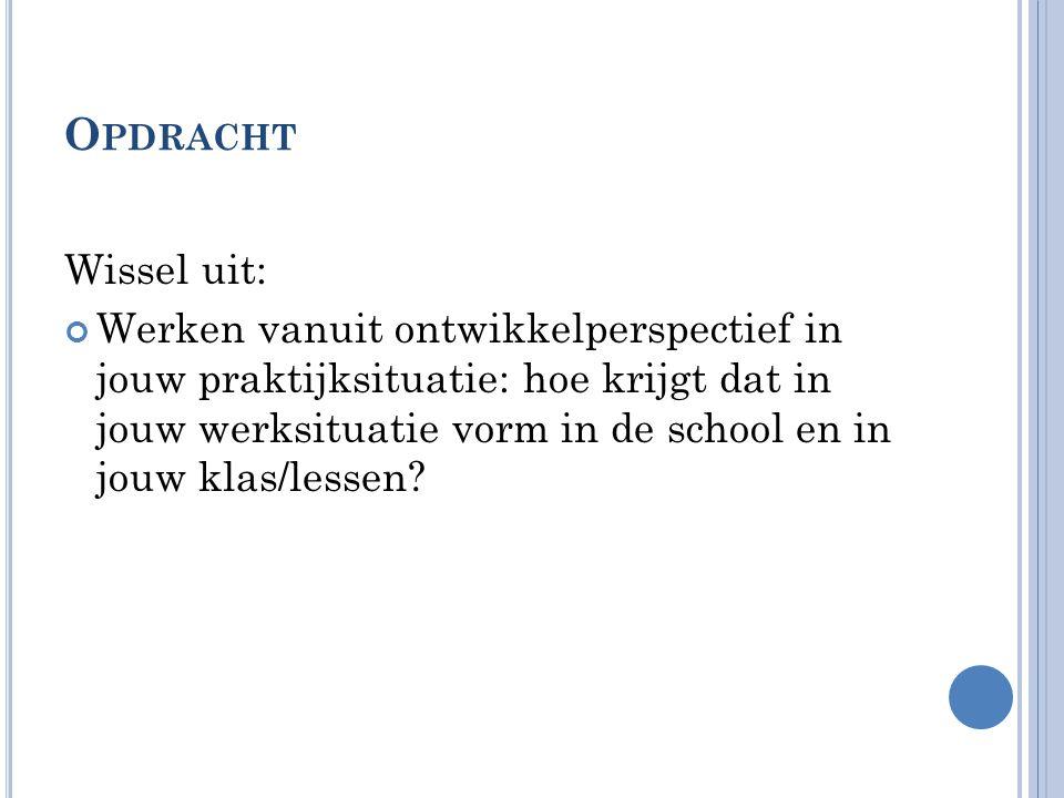 Opdracht Wissel uit: