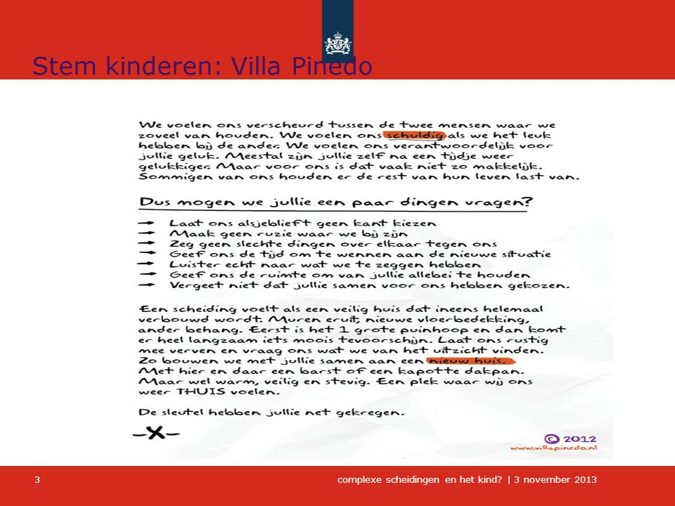 Stem kinderen: Villa Pinedo