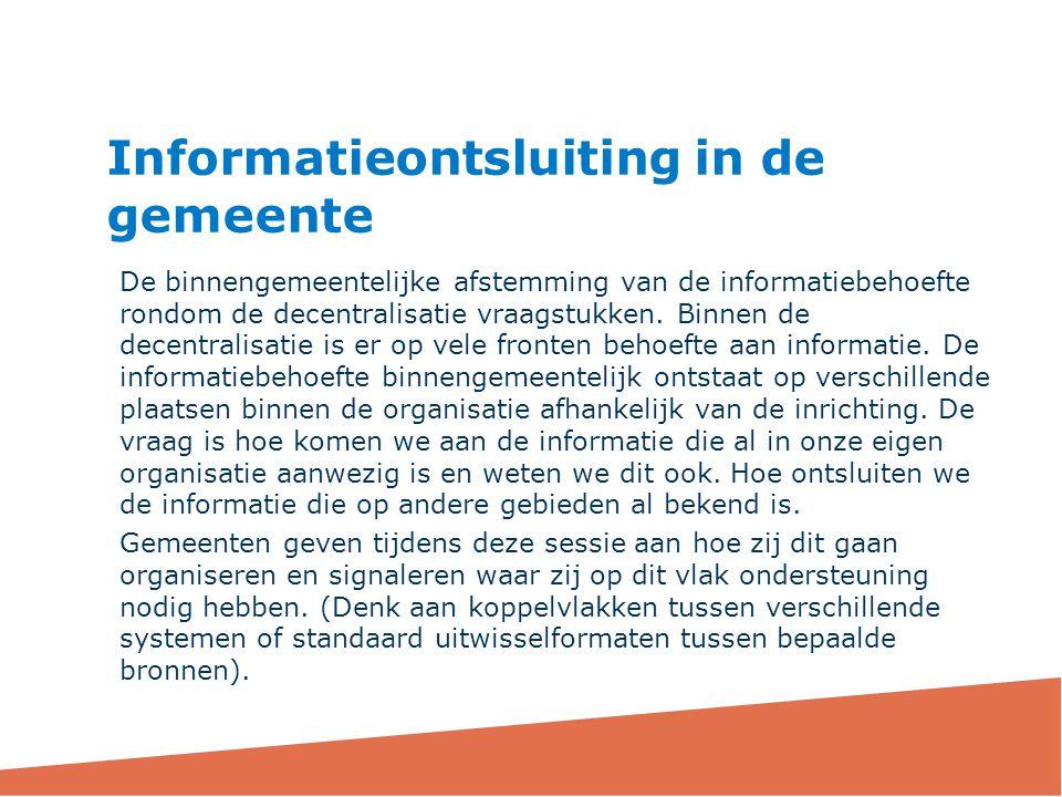Informatieontsluiting in de gemeente
