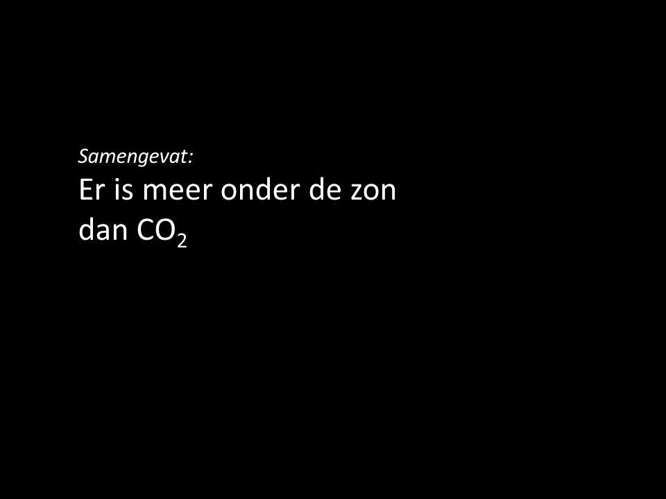 Er is meer onder de zon dan CO2
