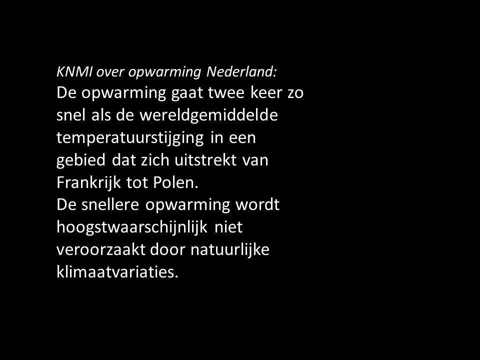 KNMI over opwarming Nederland:
