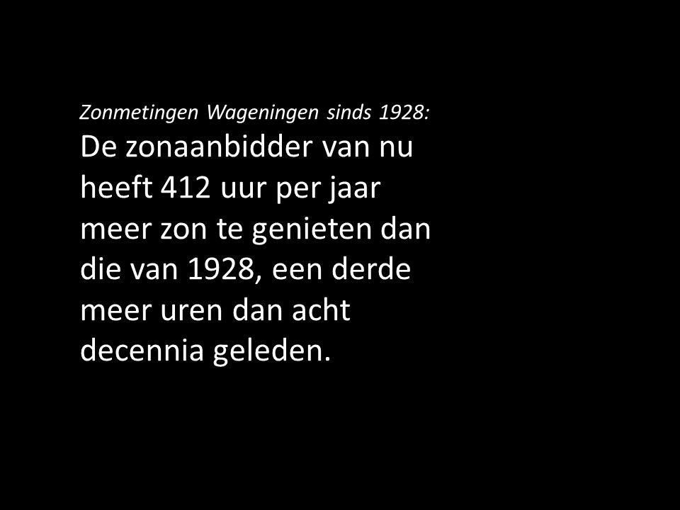 Zonmetingen Wageningen sinds 1928: