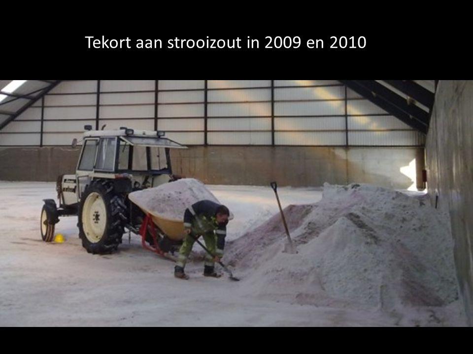 Tekort aan strooizout in 2009 en 2010