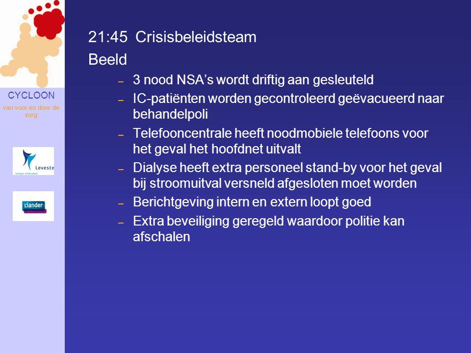 21:45 Crisisbeleidsteam Beeld