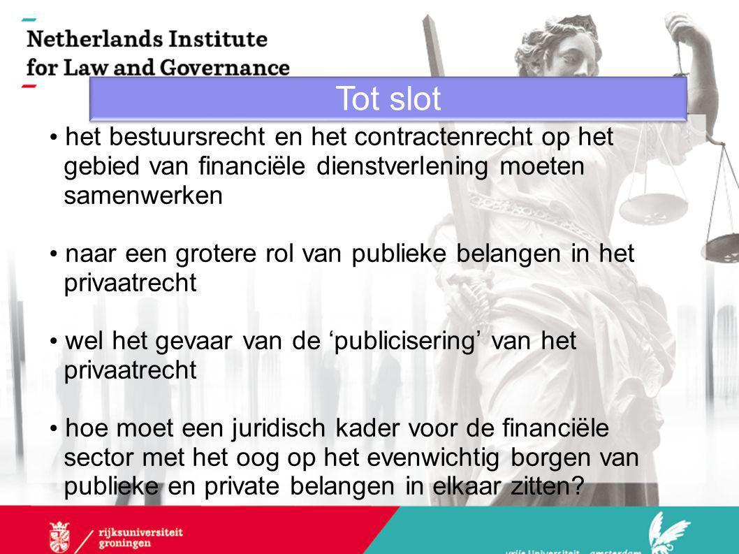 Doelstellingen van het financieel toezichtrecht en privaatrecht
