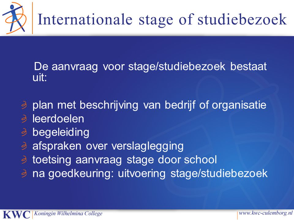 Internationale stage of studiebezoek
