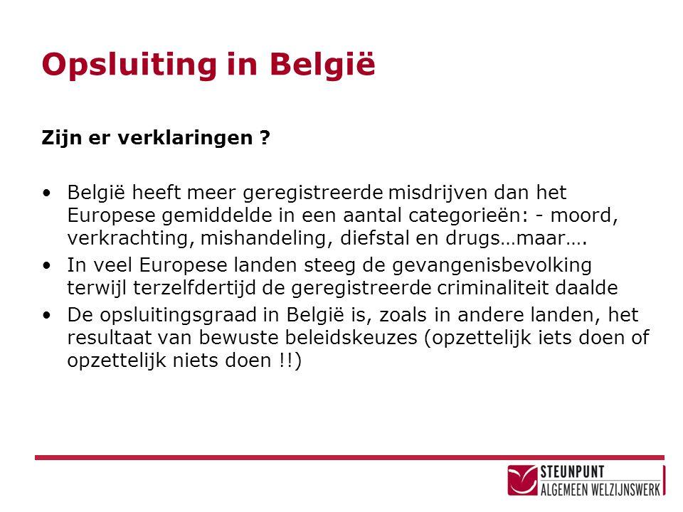 Opsluiting in België Zijn er verklaringen