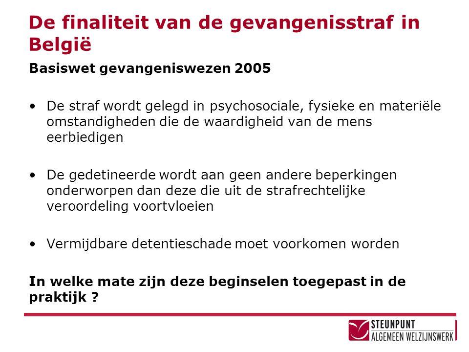De finaliteit van de gevangenisstraf in België