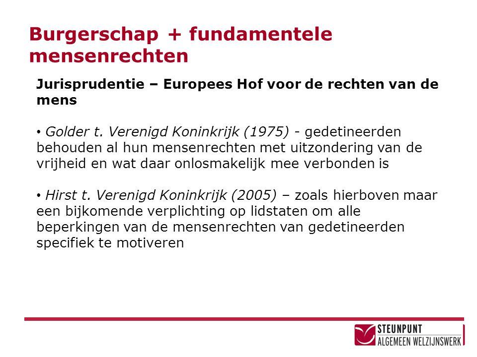 Burgerschap + fundamentele mensenrechten