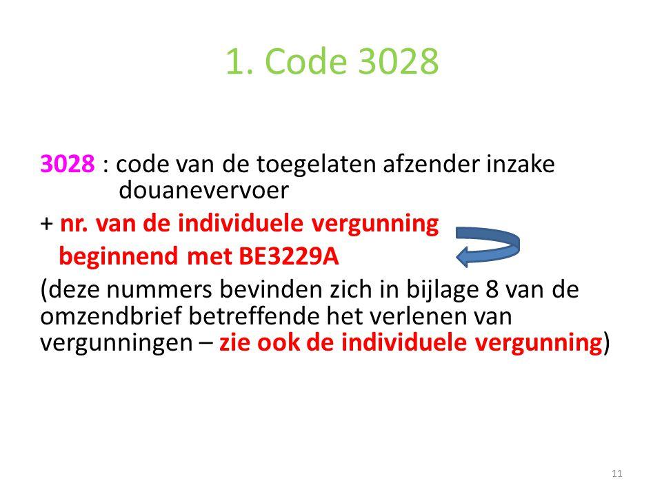 1. Code 3028