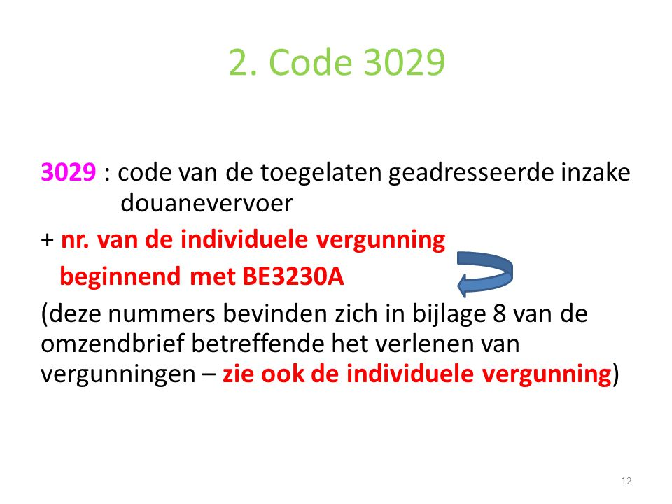 2. Code 3029