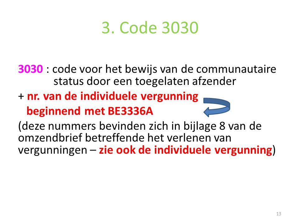 3. Code 3030