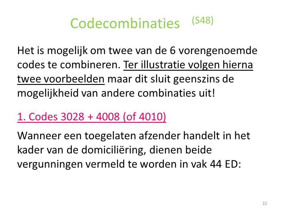 Codecombinaties (S48)