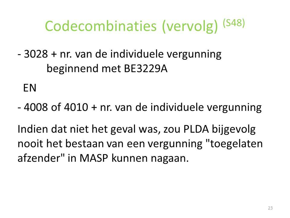 Codecombinaties (vervolg) (S48)