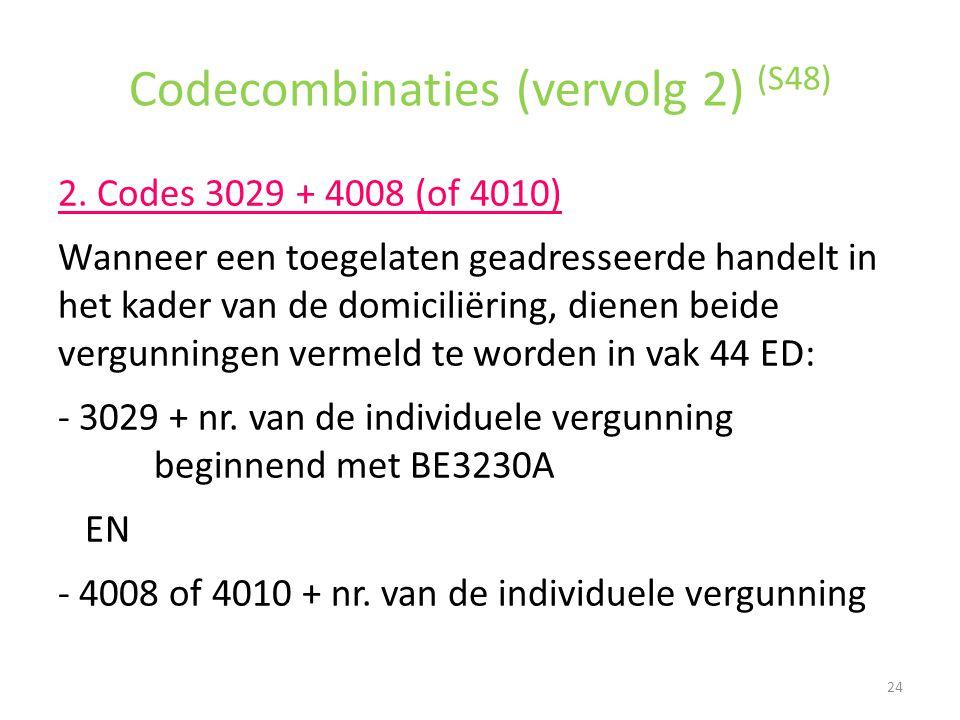 Codecombinaties (vervolg 2) (S48)