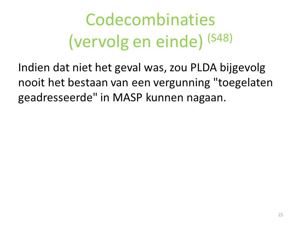 Codecombinaties (vervolg en einde) (S48)
