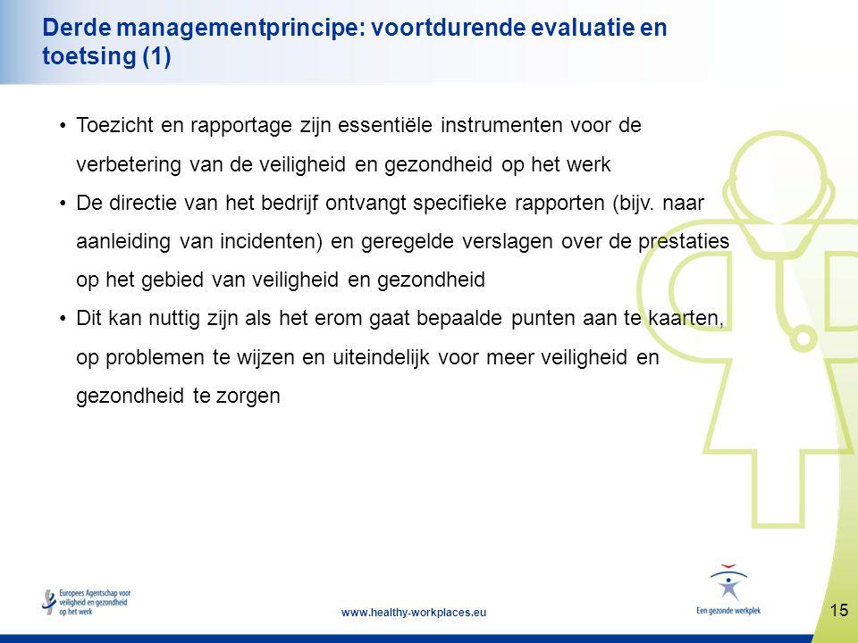 Derde managementprincipe: voortdurende evaluatie en toetsing (1)