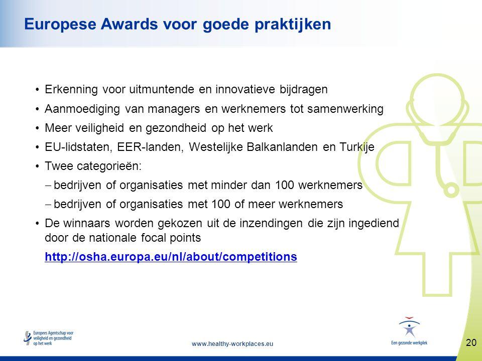 Europese Awards voor goede praktijken