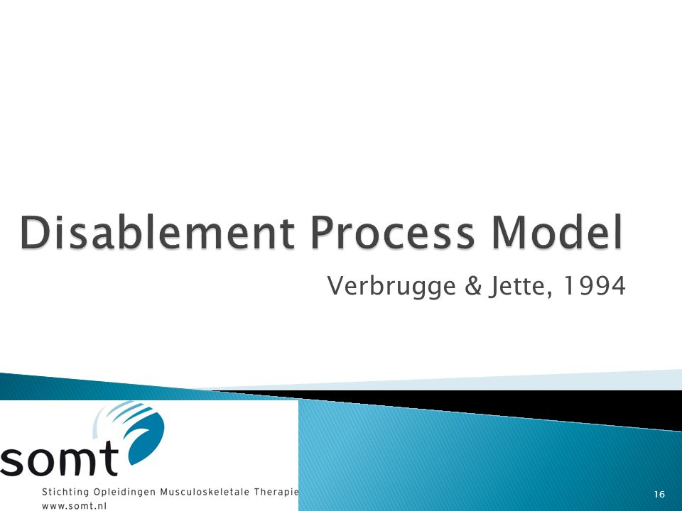 Disablement Process Model