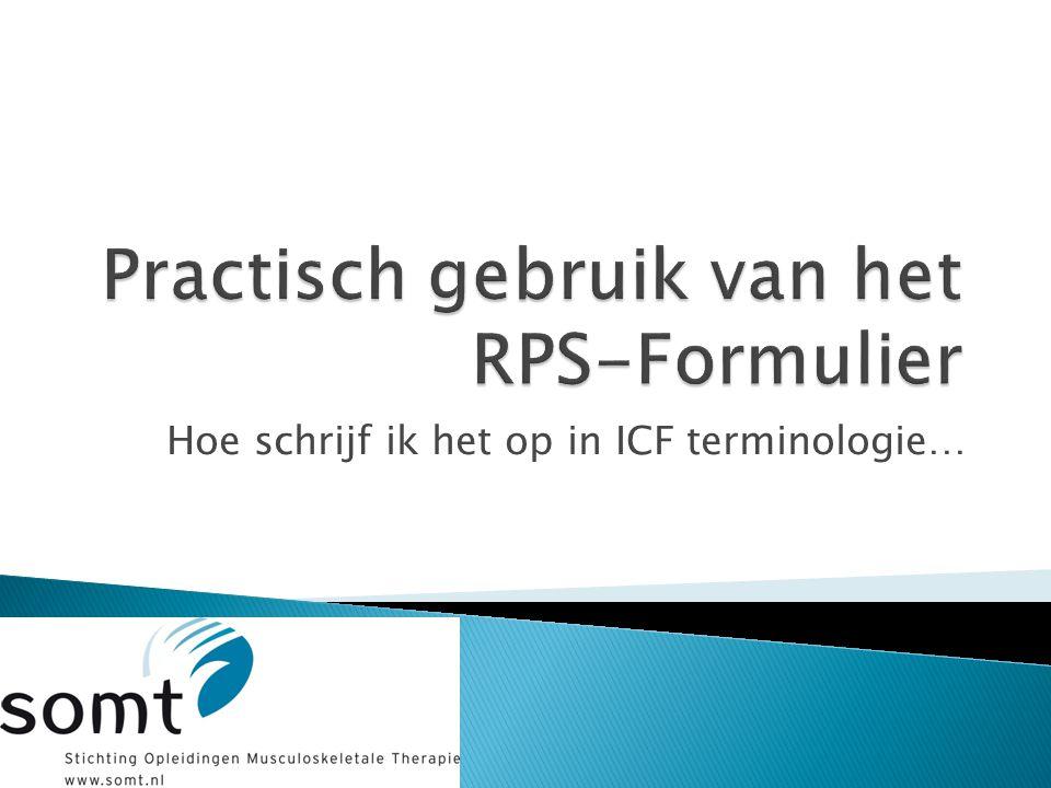 Practisch gebruik van het RPS-Formulier