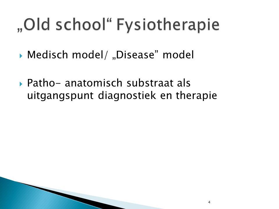 """Old school Fysiotherapie"