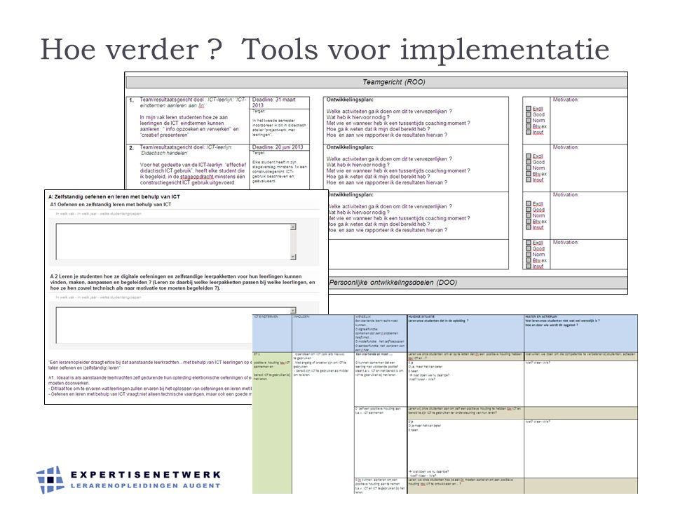 Hoe verder Tools voor implementatie