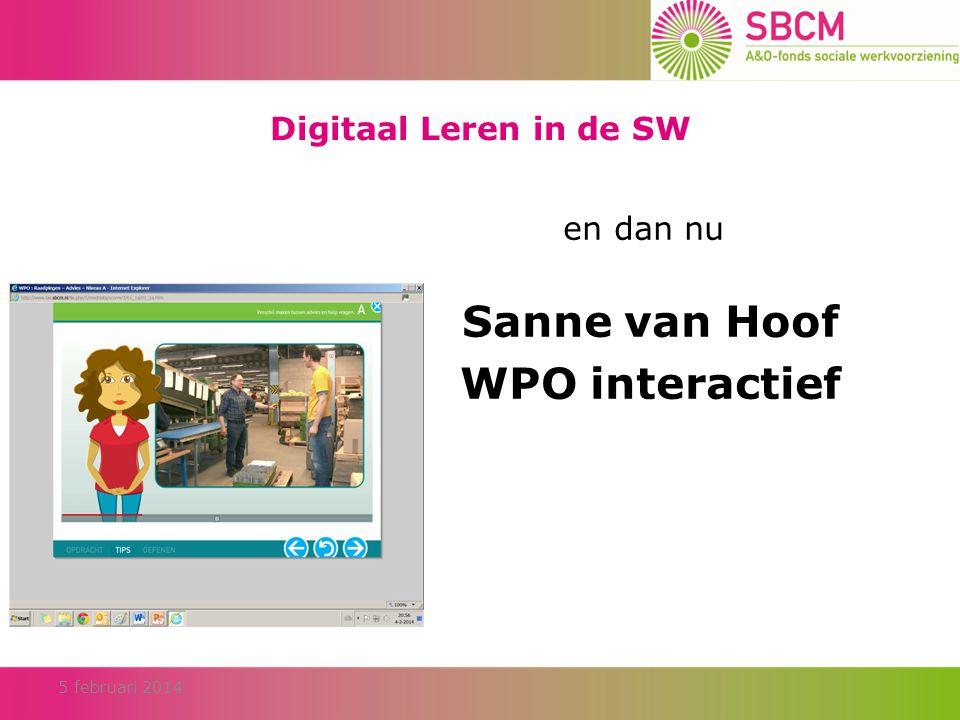 Sanne van Hoof WPO interactief