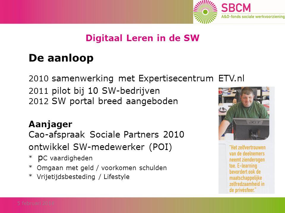 De aanloop Digitaal Leren in de SW
