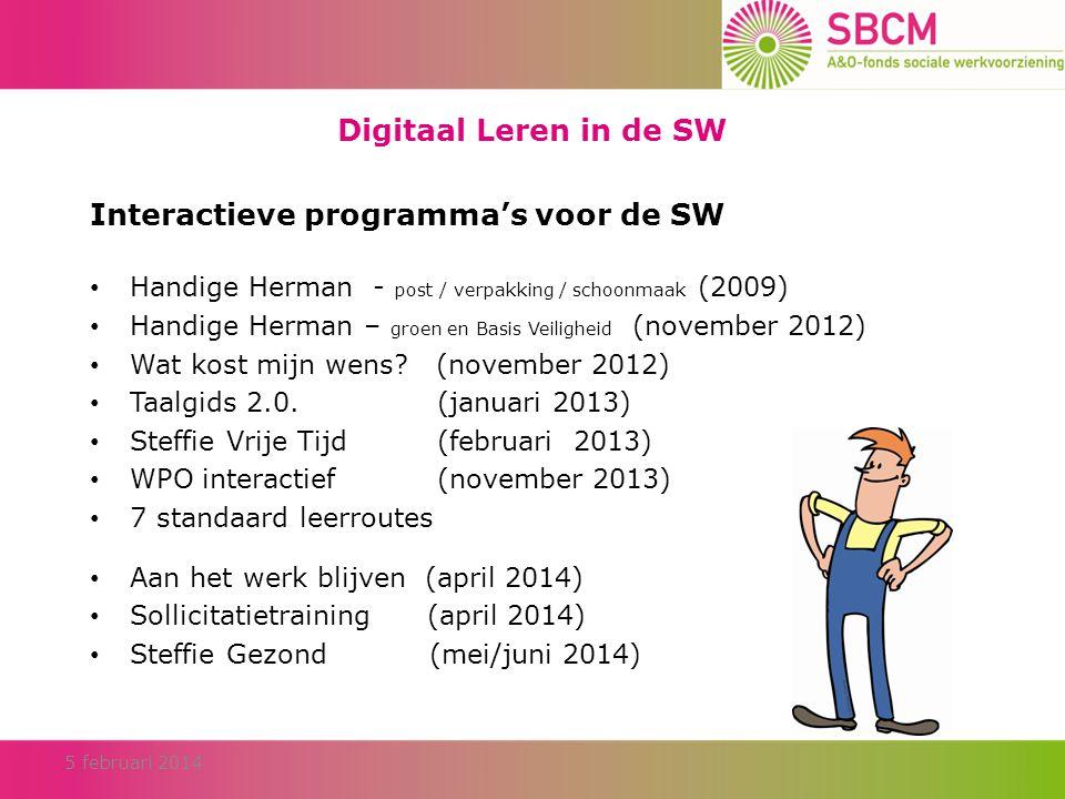 Interactieve programma's voor de SW