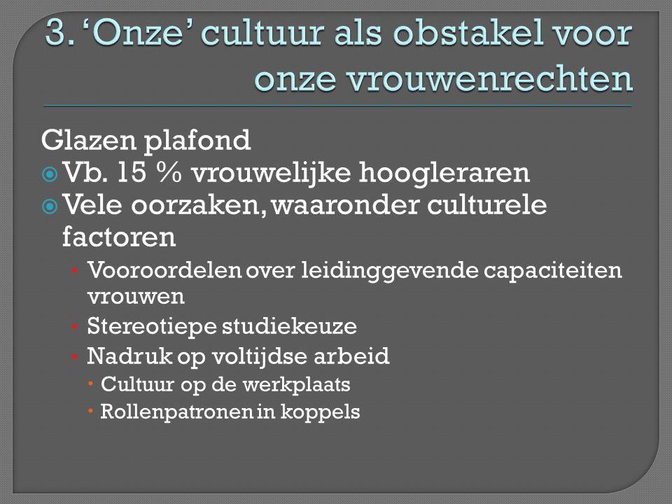 3. 'Onze' cultuur als obstakel voor onze vrouwenrechten