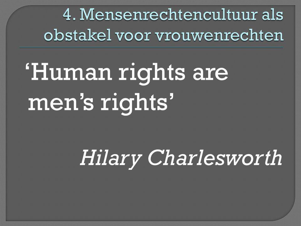 4. Mensenrechtencultuur als obstakel voor vrouwenrechten