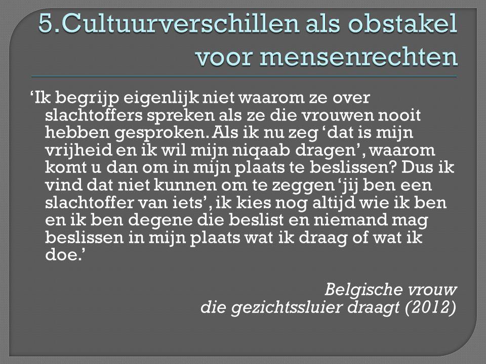 5.Cultuurverschillen als obstakel voor mensenrechten