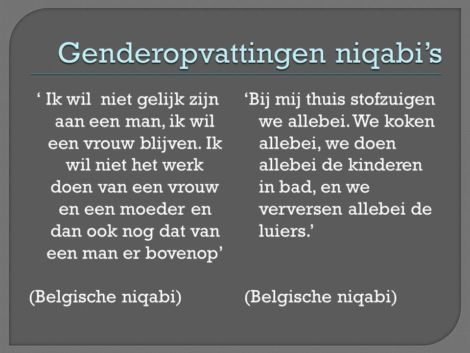 Genderopvattingen niqabi's